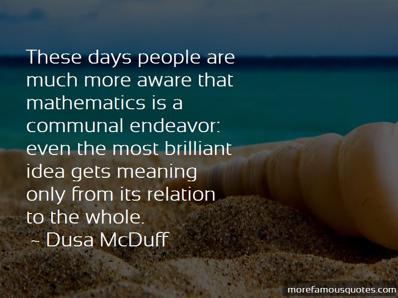 Dusa McDuff Quotes Pictures 2