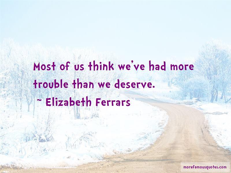 Elizabeth Ferrars Quotes