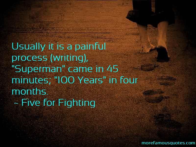 Five For Fighting Quotes