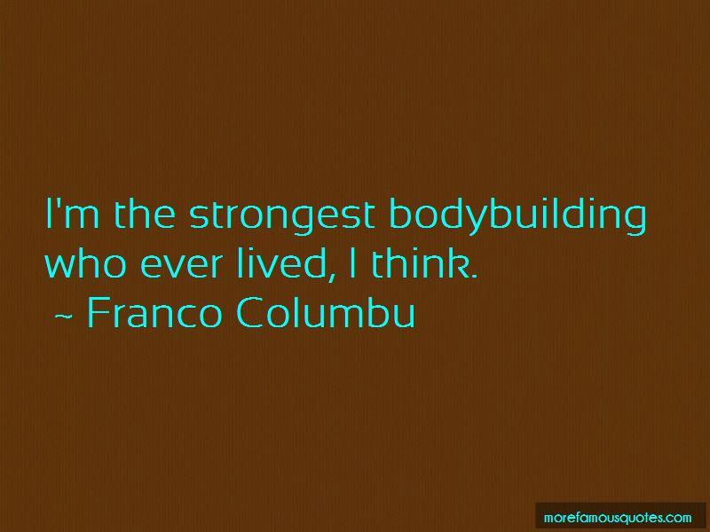 Franco Columbu Quotes