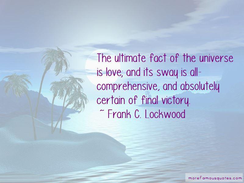 Frank C. Lockwood Quotes Pictures 4