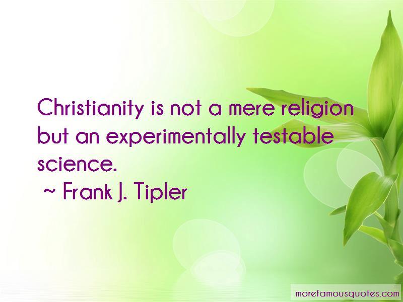 Frank J. Tipler Quotes