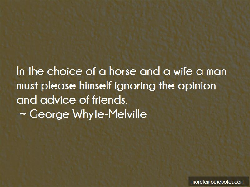 George Whyte-Melville Quotes