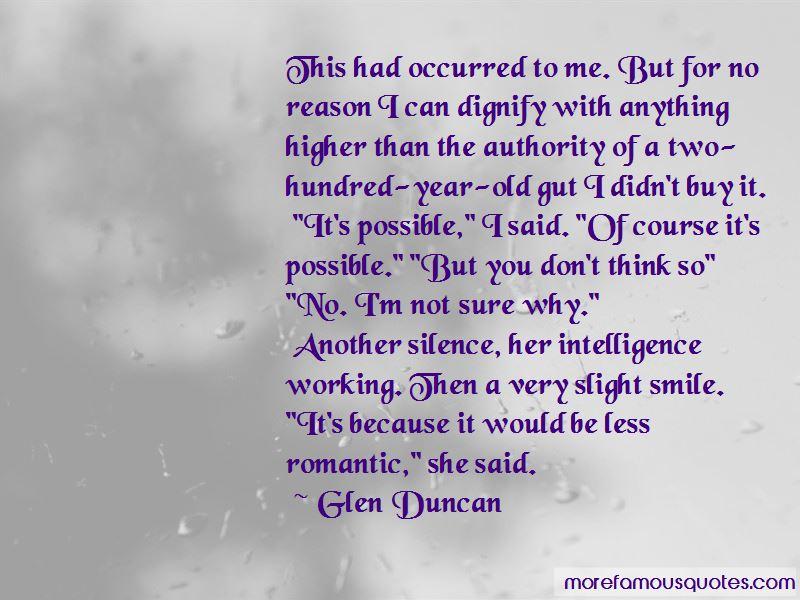 Glen Duncan Quotes