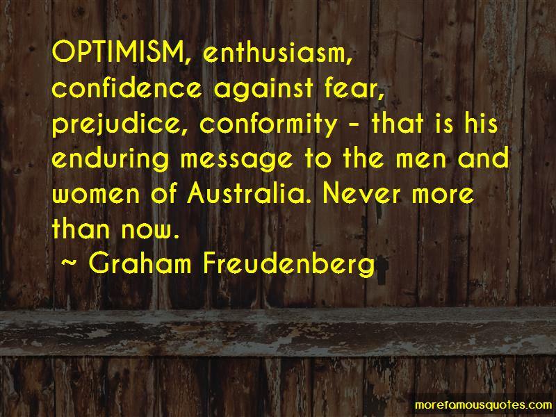Graham Freudenberg Quotes
