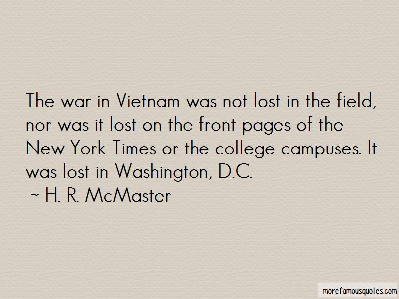 H. R. McMaster Quotes