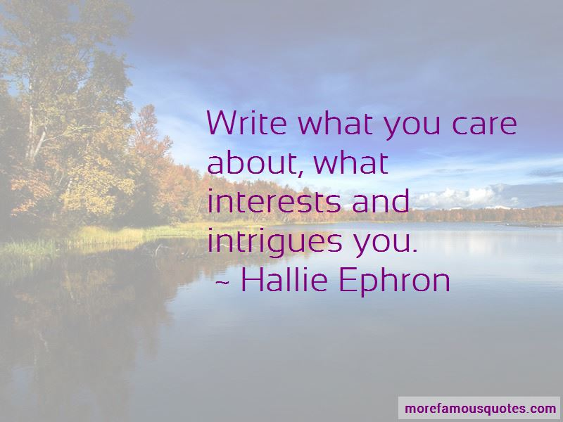 Hallie Ephron Quotes Pictures 3