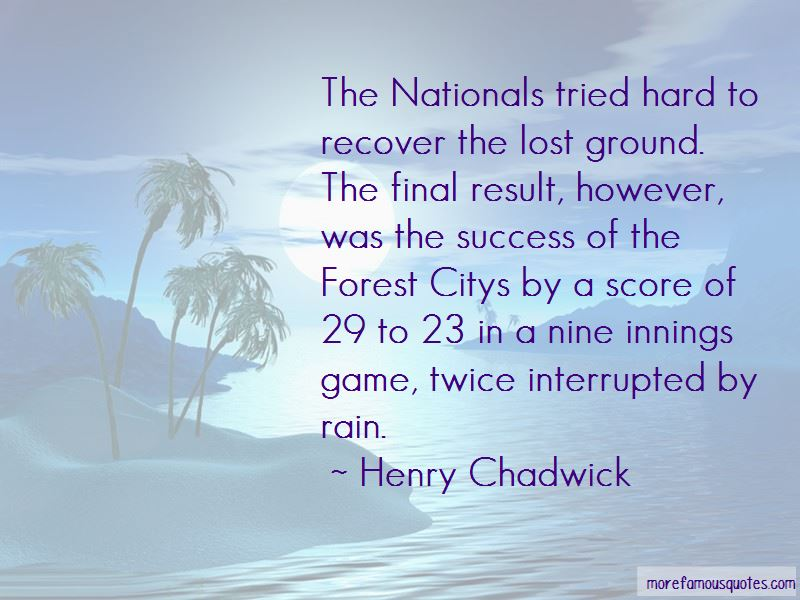 Henry Chadwick Quotes Pictures 4