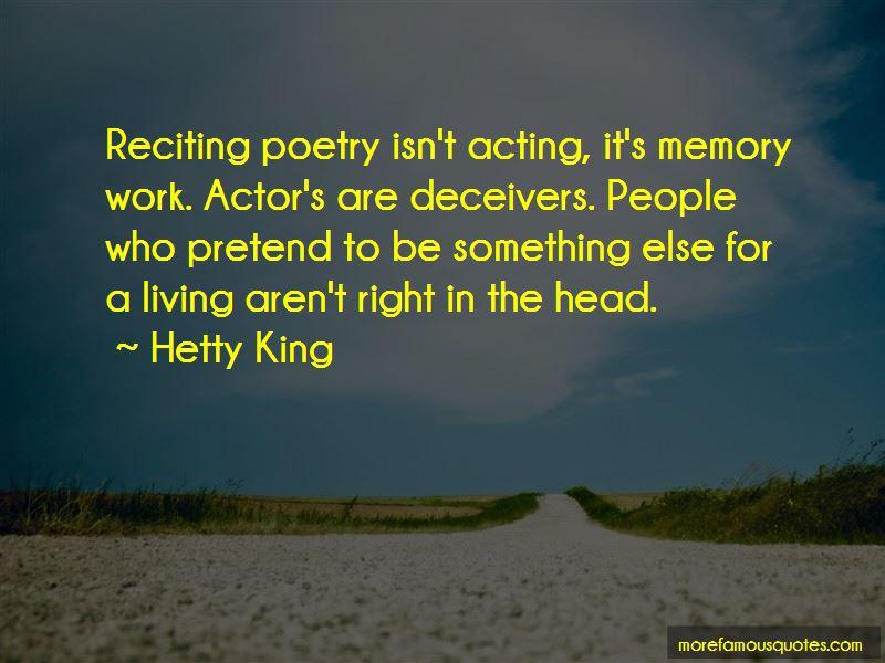 Hetty King Quotes