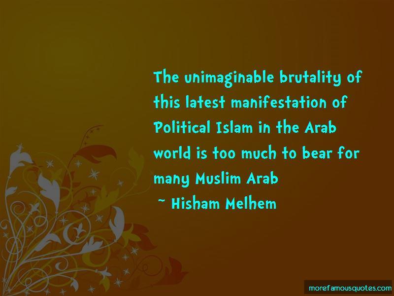 Hisham Melhem Quotes