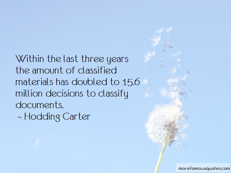 Hodding Carter Quotes