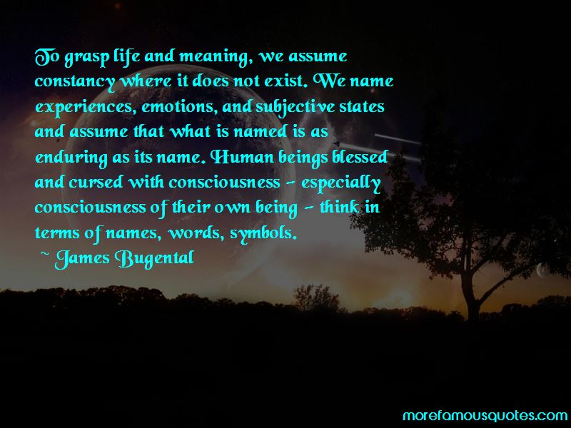James Bugental Quotes