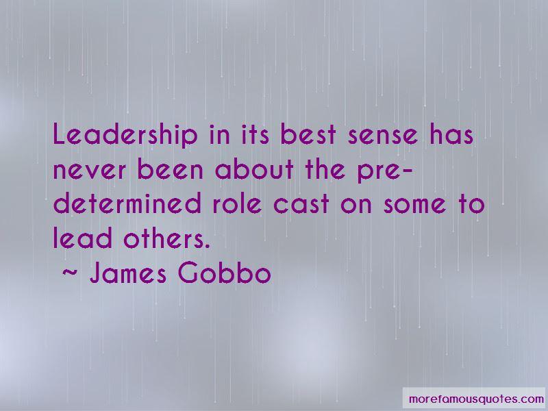 James Gobbo Quotes