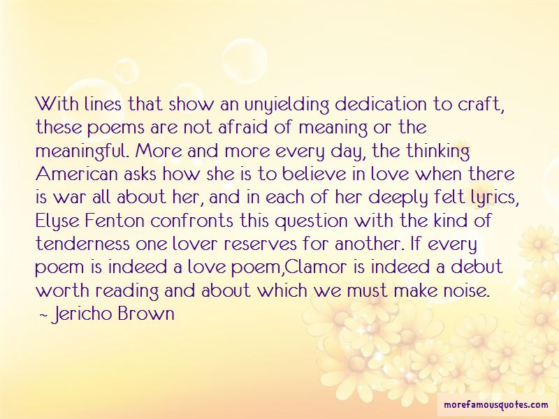 Jericho Brown Quotes
