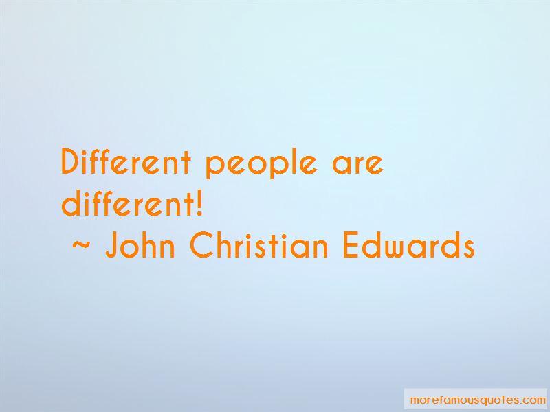 John Christian Edwards Quotes