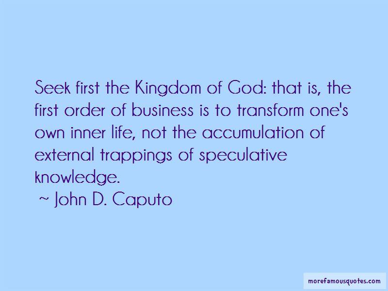 John D. Caputo Quotes