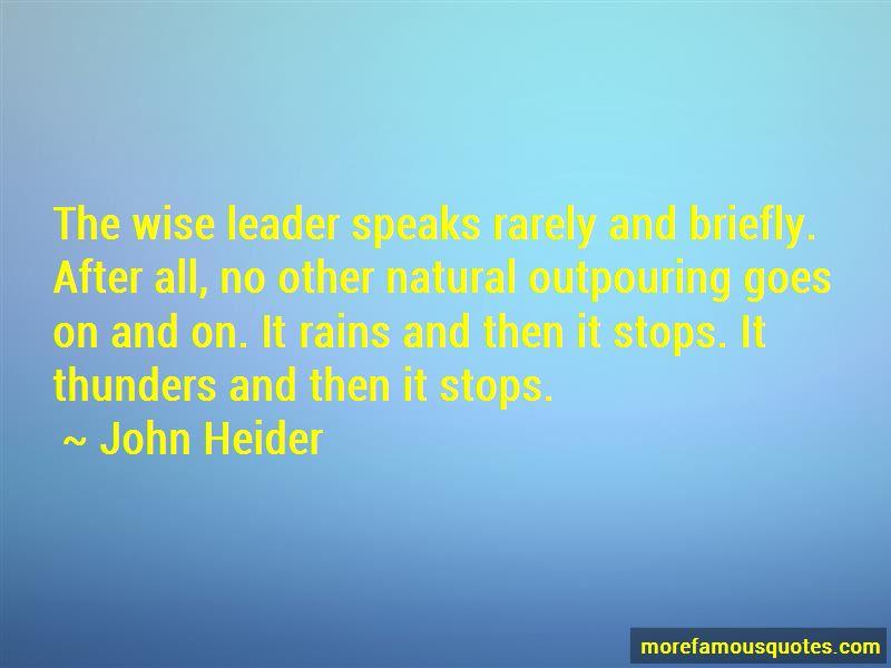 John Heider Quotes