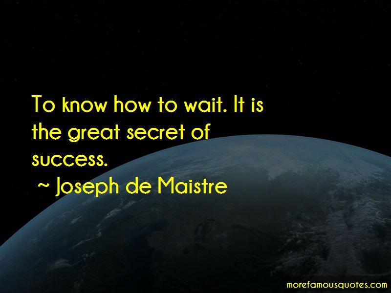 Joseph De Maistre Quotes