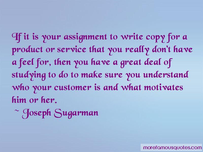 Joseph Sugarman Quotes Pictures 3