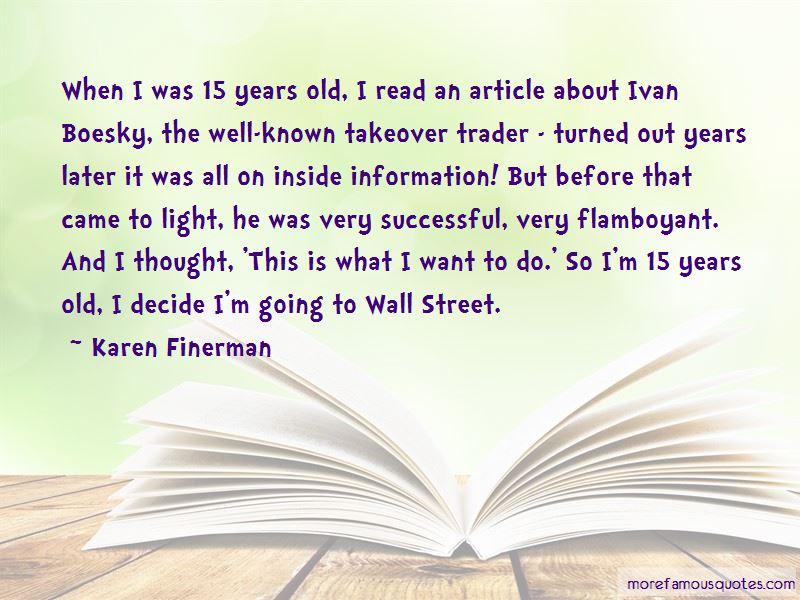 Karen Finerman Quotes Pictures 3