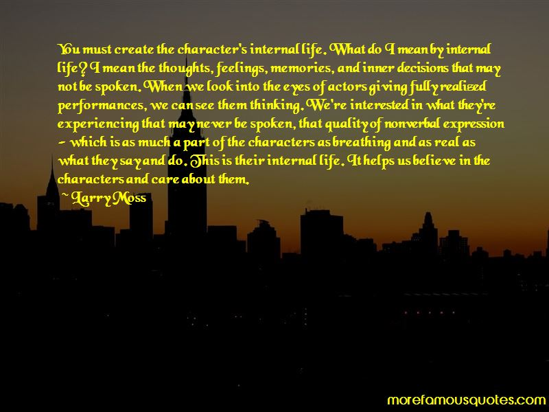 Larry Moss Quotes