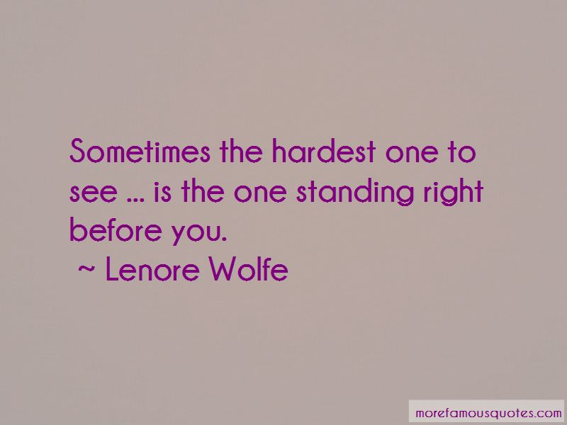 Lenore Wolfe Quotes Pictures 2