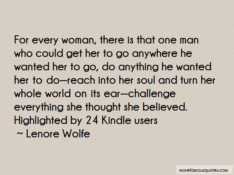 Lenore Wolfe Quotes Pictures 4