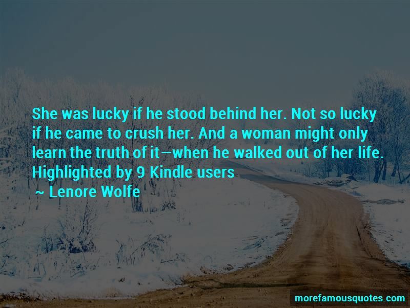 Lenore Wolfe Quotes