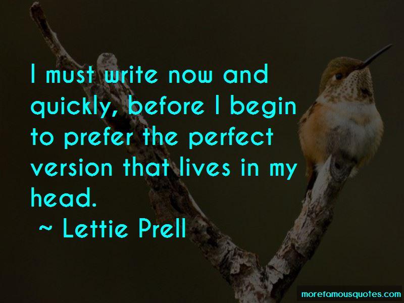 Lettie Prell Quotes