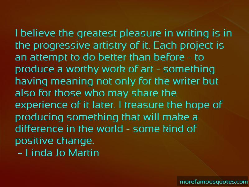 Linda Jo Martin Quotes