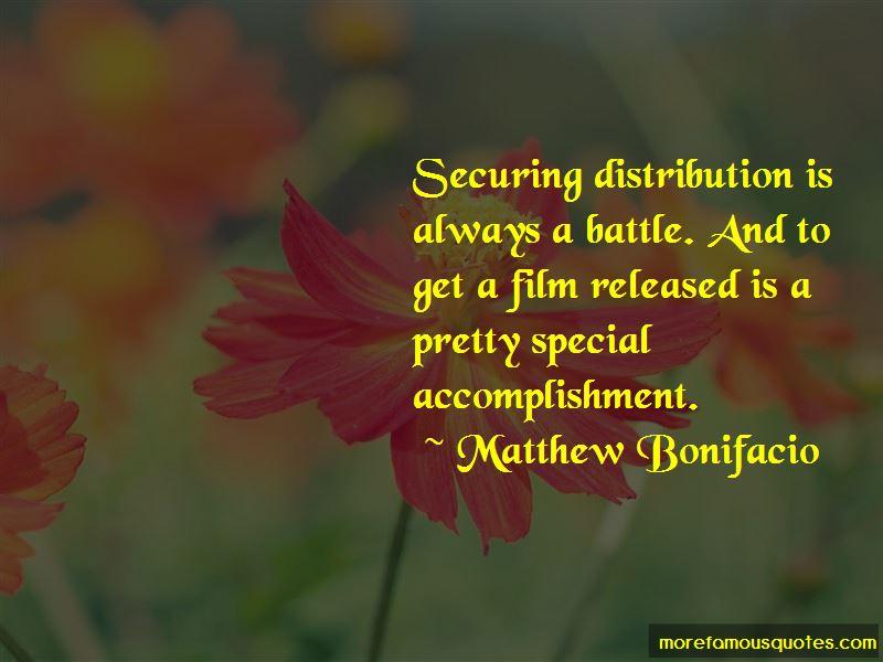 Matthew Bonifacio Quotes