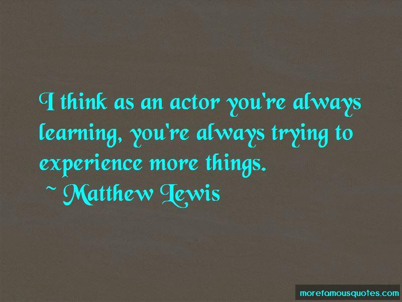 Matthew Lewis Quotes Pictures 2