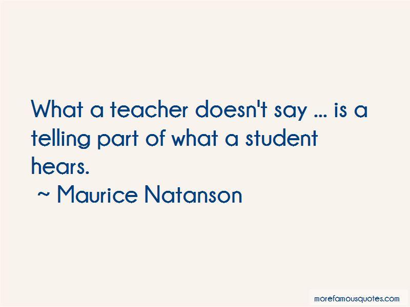 Maurice Natanson Quotes