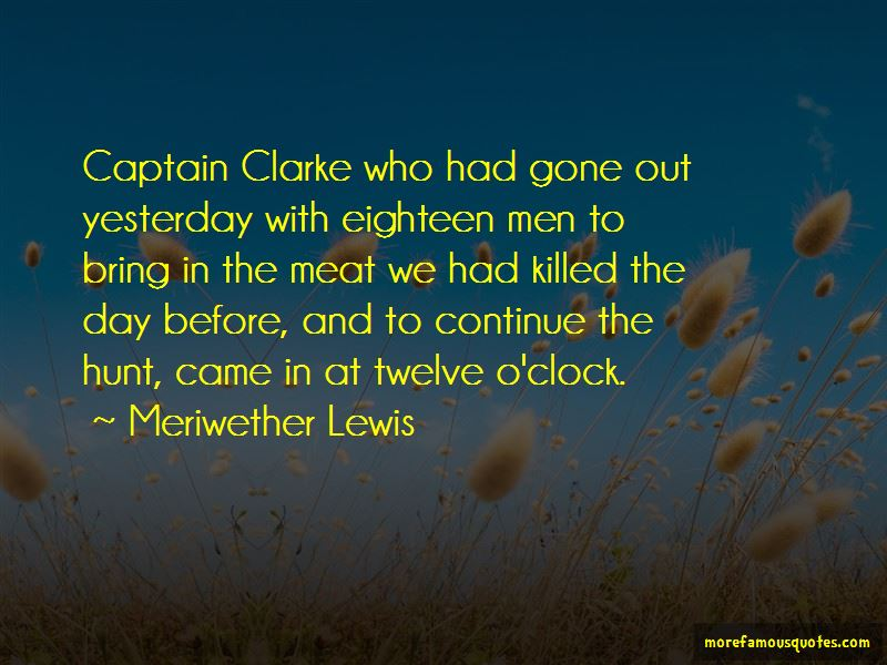 Meriwether Lewis Quotes