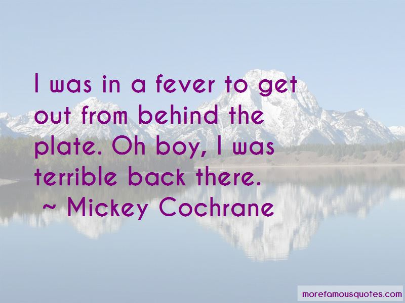 Mickey Cochrane Quotes Pictures 2