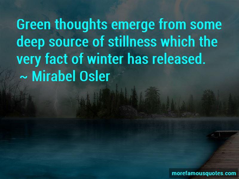 Mirabel Osler Quotes