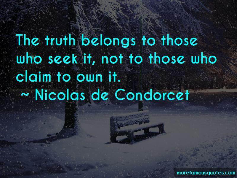 Nicolas De Condorcet Quotes