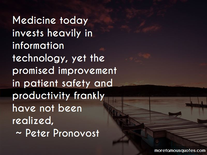 Peter Pronovost Quotes