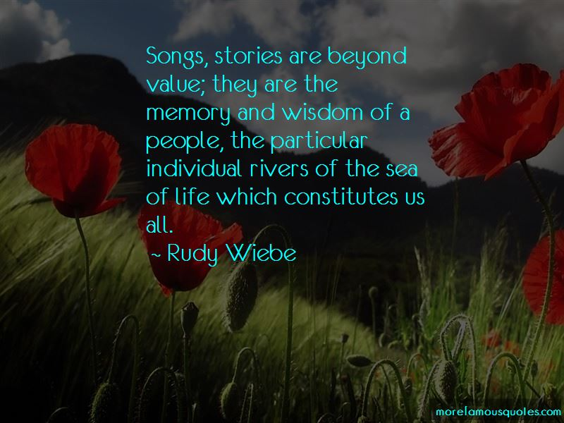 Rudy Wiebe Quotes Pictures 2