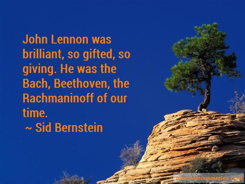 Sid Bernstein Quotes