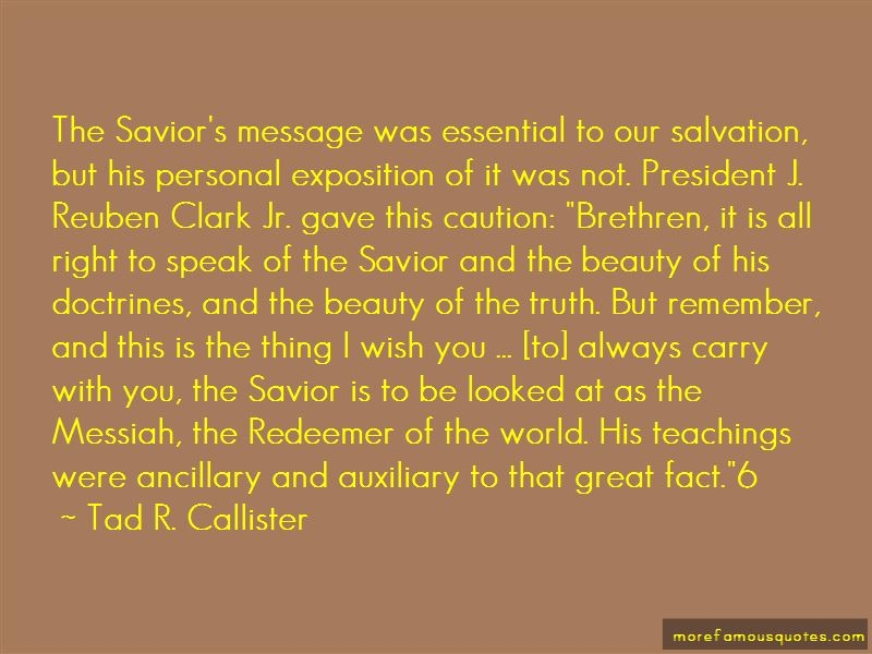 Tad R. Callister Quotes