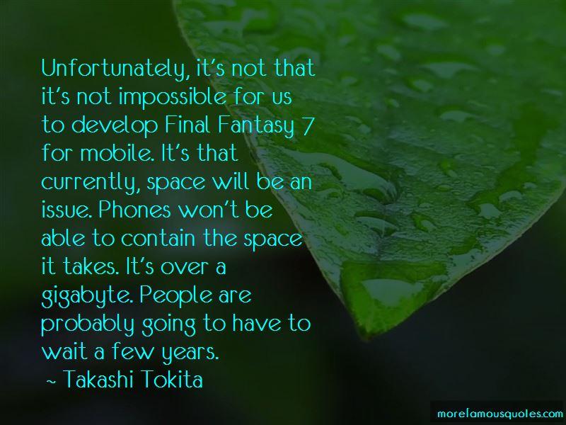 Takashi Tokita Quotes