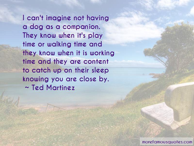 Ted Martinez Quotes
