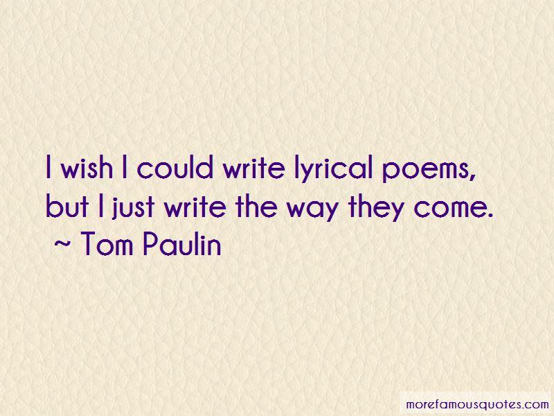 Tom Paulin Quotes