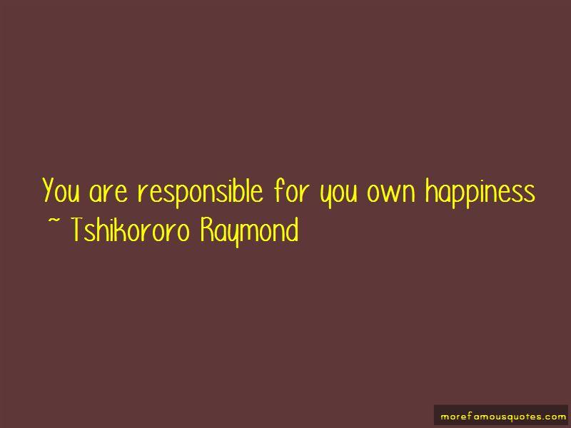 Tshikororo Raymond Quotes