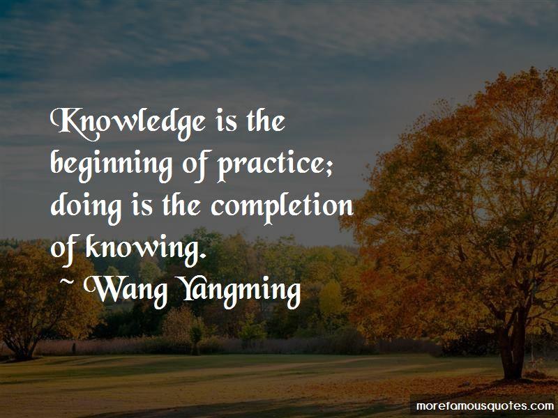 Wang Yangming Quotes