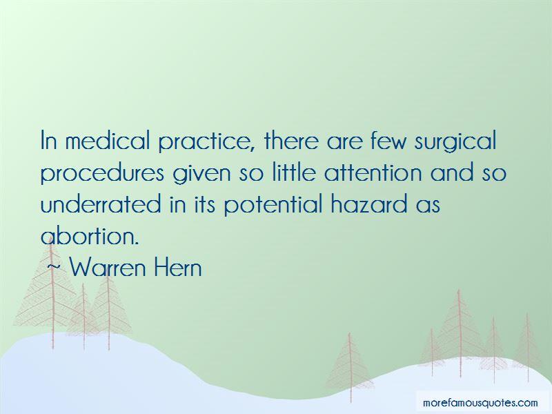Warren Hern Quotes