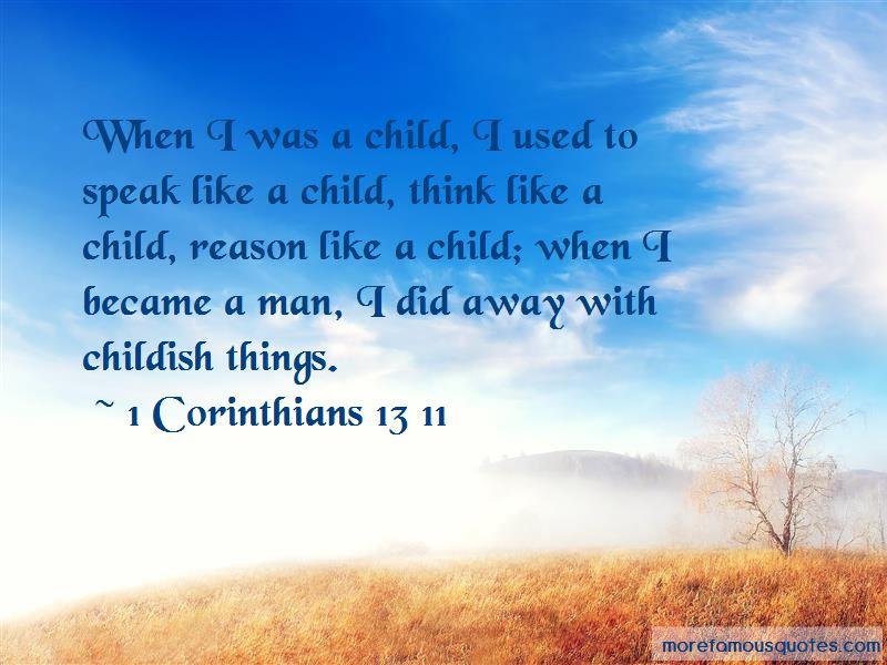 1 Corinthians 13 11 Quotes