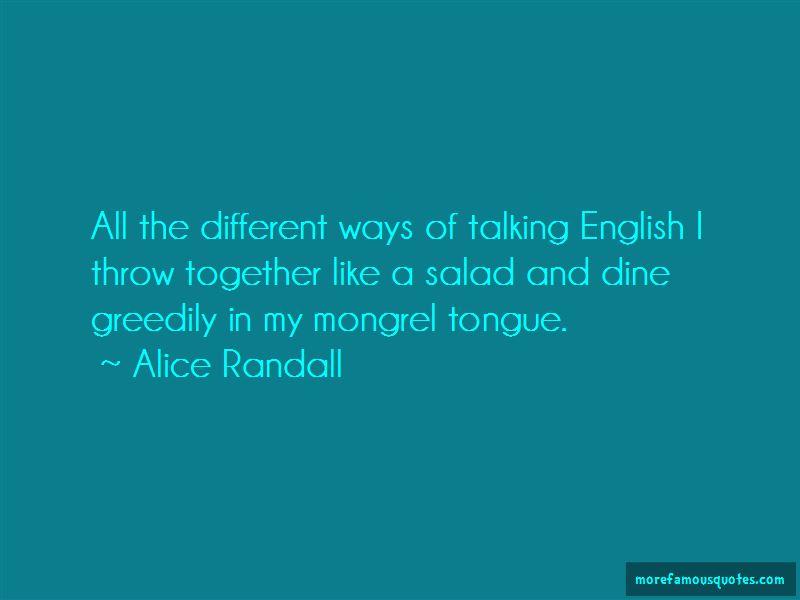 Alice Randall Quotes