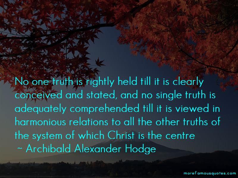 Archibald Alexander Hodge Quotes
